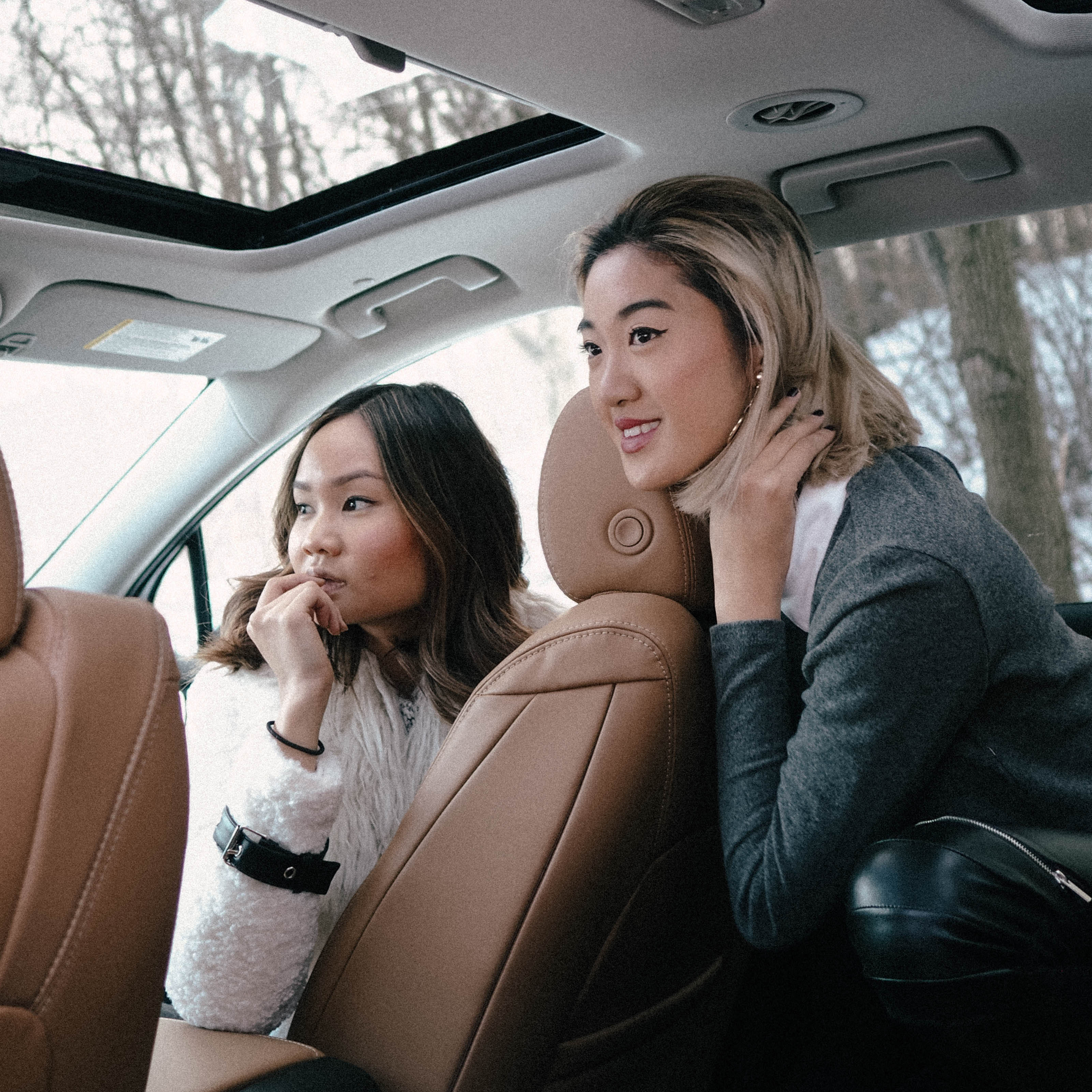 Always keeping a lookout, especially with the gorgeously shaped windows and moonroof in the Buick Enclave.