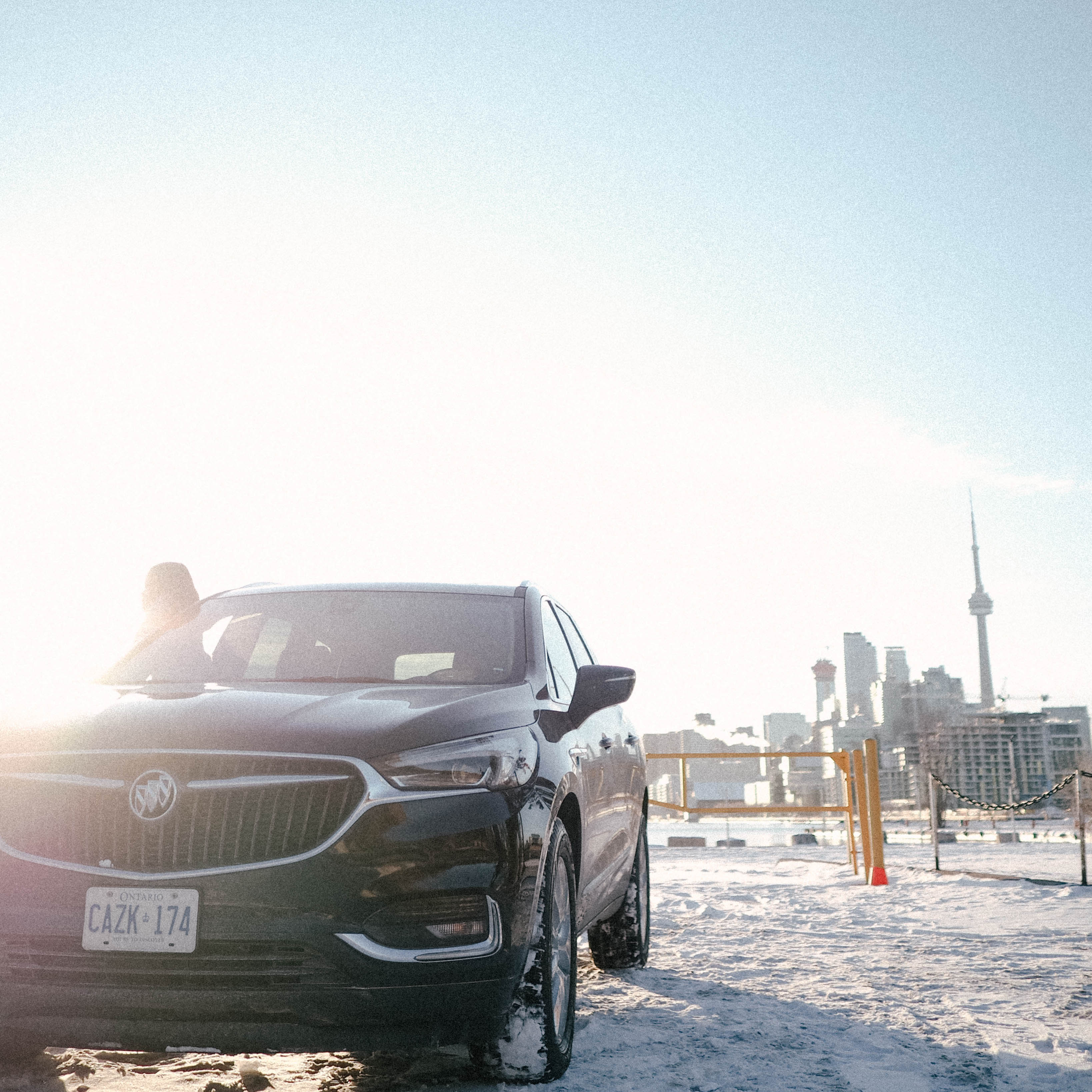 Exploring the city with this beautiful Buick Enclave.